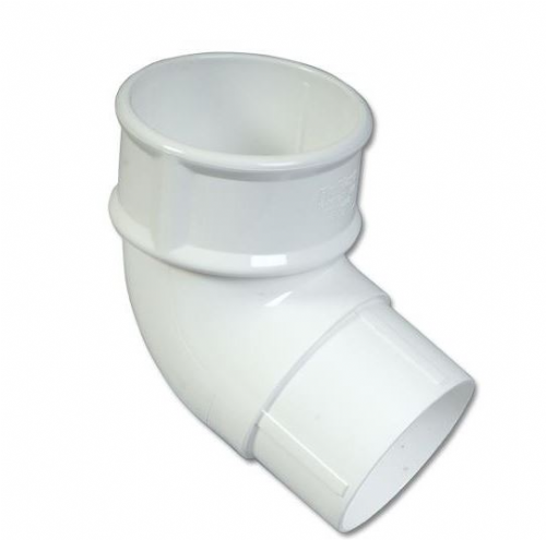 White Round Downpipe 112 Degree Pipe Bend 68mm RB2